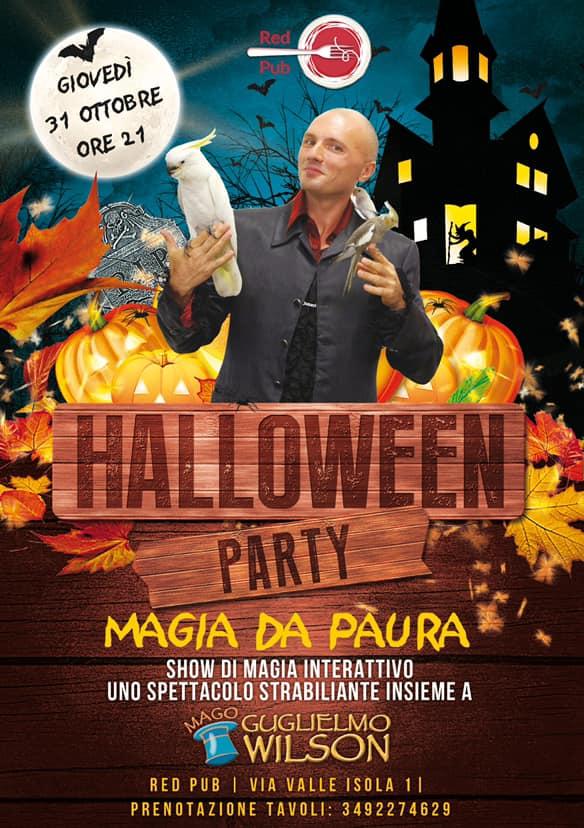 Halloween Red Pub Comacchio - Mago Guglielmo Wilson